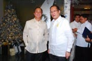 ABS-CBN Chairman Eugenio Lopez III and President Benigno  Noynoy Aquino III
