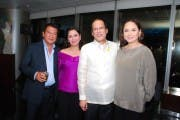 Former ABS-CBN president Freddie Garcia, Channel 2 Head Cory Vidanes, Pres. Aquino, ABS-CBN Pres. Charo Santos-Concio