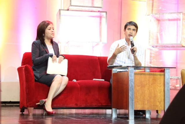 ABS-CBN News and Current Affairs Head Ma Regina Ging Reyes and ABS-CBN Corporation News Reporter Atom Araullo