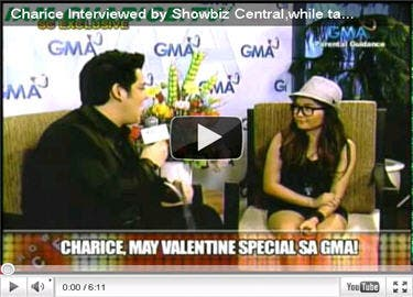 Charice Home for Valentine's
