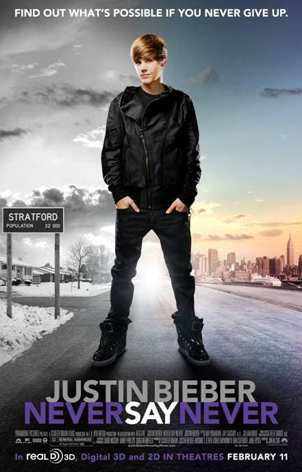 "justin bieber never say never 3d movie poster. ""Justin Bieber Never Say"