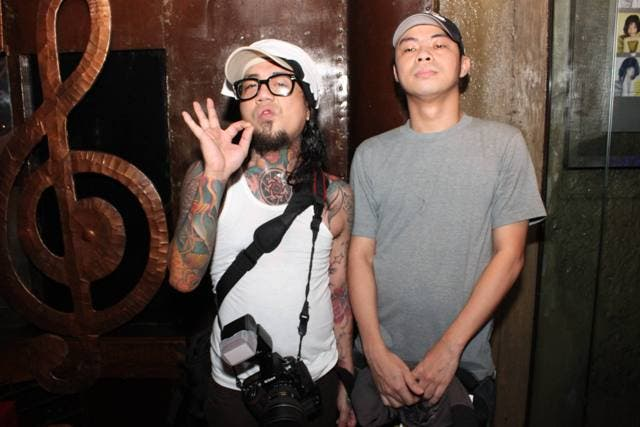 Jay of Kamikazee and Chito Miranda of Parokya ni Edgar