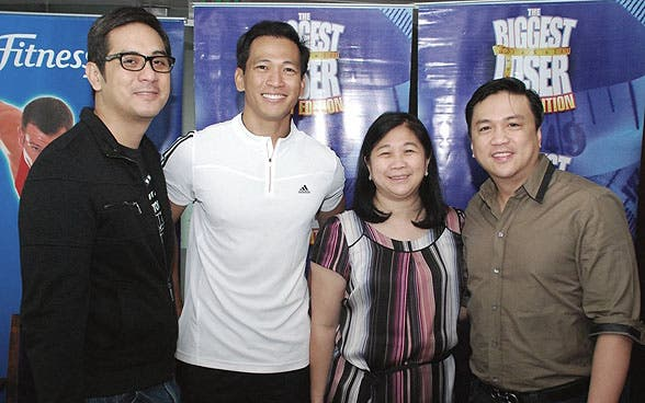 Lauren Dyogi, Jim Saret, ABS-CBN Head of TV Entertainment Production Linggit Tan and Arnold Vegafria, the talent manager of Chinggay Andrada, the other trainer of BL