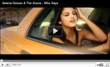 Selena Gomez   Music Video on Selena Gomez Who Says Music Video