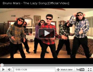Bruno Mars The Lazy Song Music Video