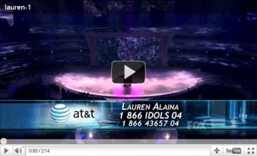 Lauren Alaina Top 4 Video