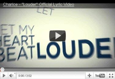 Charice Louder Lyrics Video