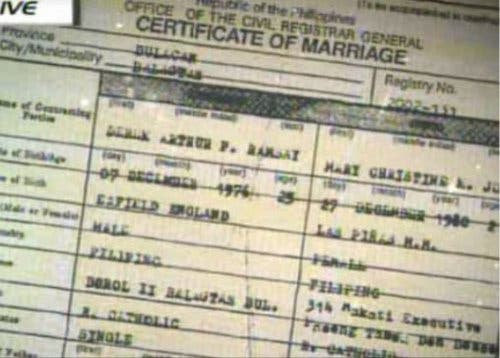 Mary Christine Jolly  Derek RamsayS Marriage Contract Photo