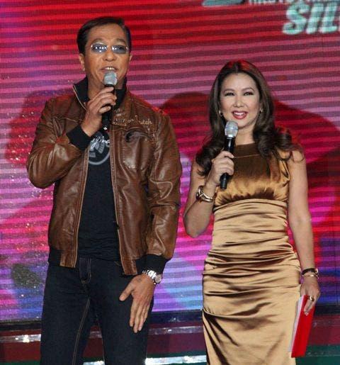 Ted Failon and Korina Sanchez (Photo by Allan Sancon)