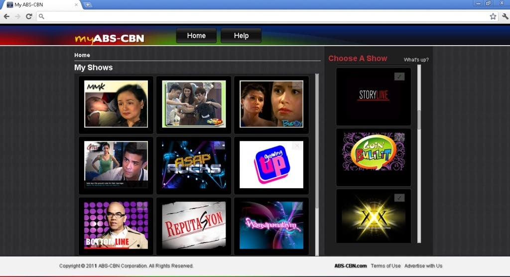 iWantTV for Philippine-based users, and via TFCNow! for global users