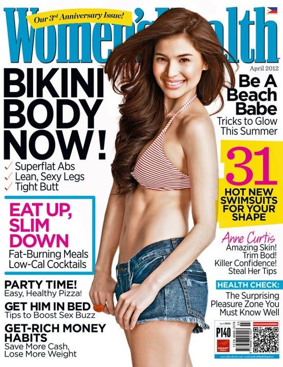 Anne Curtis, Anne, Curtis, Women's Health, Magazine, April 2012, Philippines