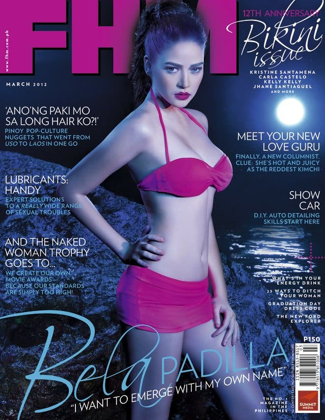 Bela new FHM cover