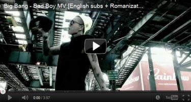 Big Bang Bad Boy Music Video