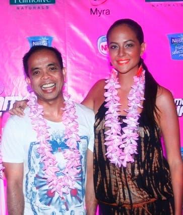 Sarah Meier with Velvet Channel Head Ronald Arguelles