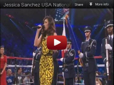 Jessica Sanchez US National Anthem
