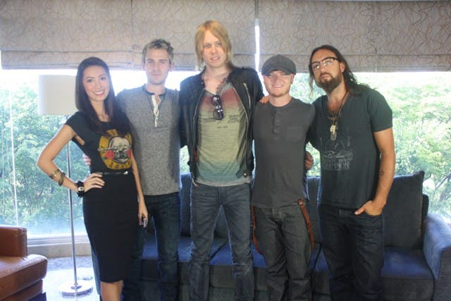 Lifehouse band with VJ Bianca
