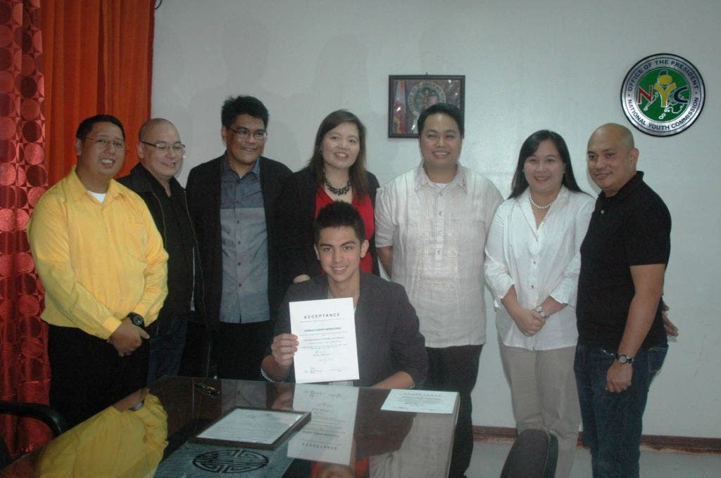 Left to Right Earl P. Saavedra, NYC Commissioner_ Arsi Baltazar, GMA Artist Center Head for Talent Development_ Jose Mari R. Abacan, GMA Vice President for Program Management_ Georgina Nava,NYC Commissioner_ Derrick Monasterio,