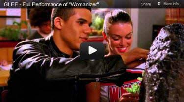 Glee Womanizer Video