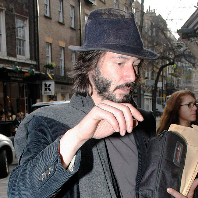 EXCLUSIVE ALL-ROUND PICTURES - Keanu Reeves out and about in London, UK
