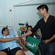 Mikael Daez during their Advocacy Visit at the Camp Evangelista General Hospital
