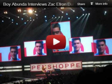 Zac Efron Interviewed by Boy Abunda