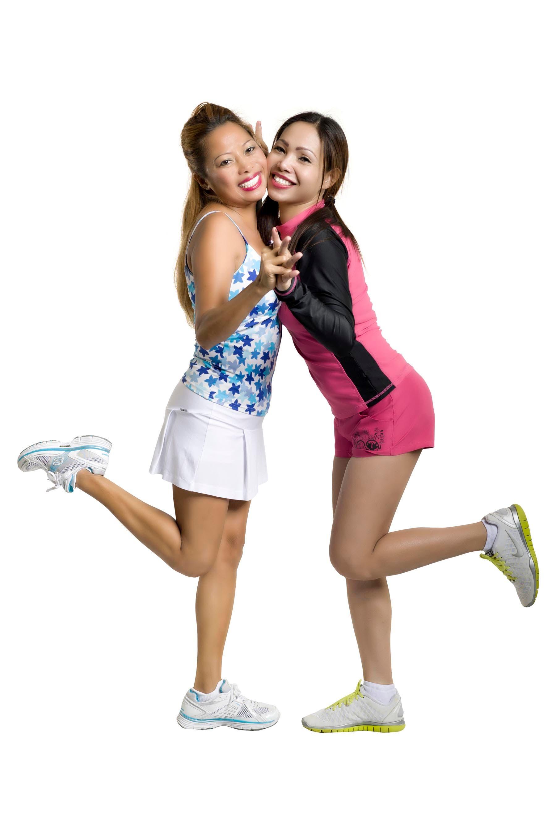 Alabang housewives Pam Spella and Vanessa Ishitani