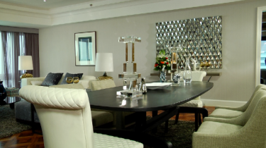Contemporary Glamour Dining Room