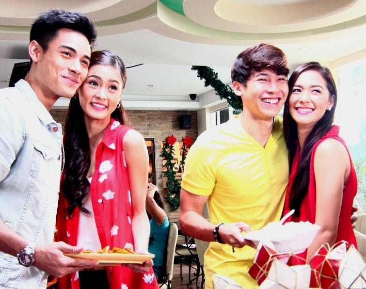 Kim Xian Maja and Enchong in ABS-CBN Christmas Station ID