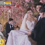 Carmina and Zoren during their wedding officiated by a lady judge