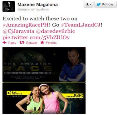 Maxene's Tweet