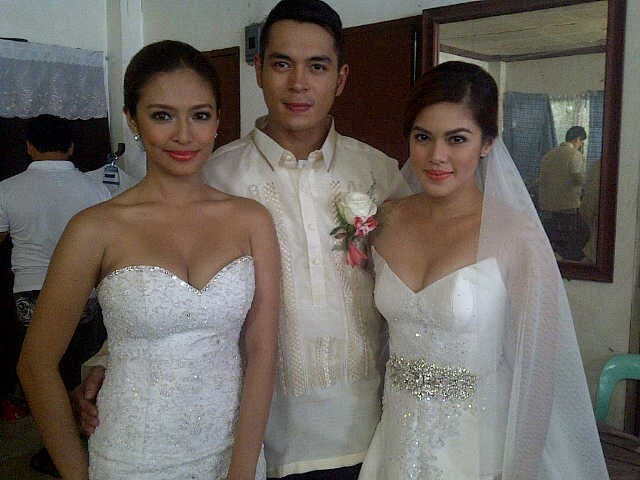 Wedding scene_Bangs Garcia, Jake Cuenca, and Shaina Magdayao