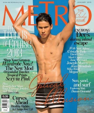 Enchong Dee shirtless on Metro Magazine January 2013 Cover