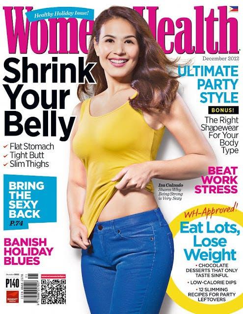 Iza Calzado Covers Women's Health Dec 2012 issue