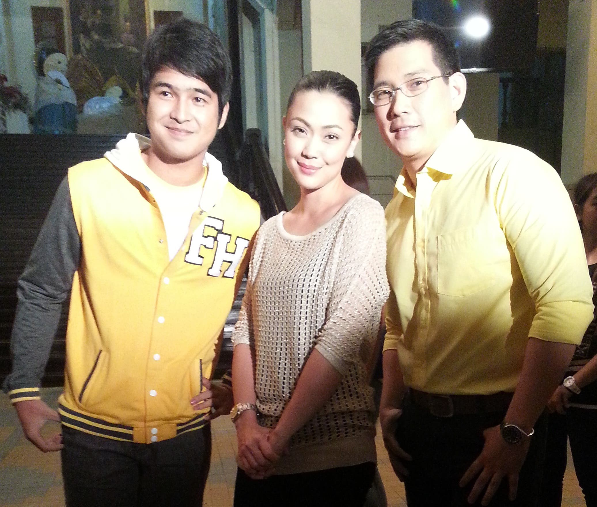 Jodi, Richard and 'Kuya Luke' of Be Careful With My Heart at the USTV Awards Kick-Off party_1
