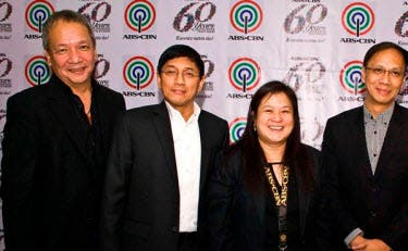 In photo:  (L-R) ABS-CBN chief strategy and risk officer Raymund Miranda, chief finance officer Rolando Valdueza, investor relations head Melissa Ortiz, treasury and compliance head Paul Michael Villanueva, and comptrollership head Paz Balayan
