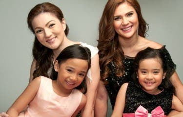 Carmina Villarroel & Vina Morales with Larah Claire Sabroso and Julia Klarisse Base