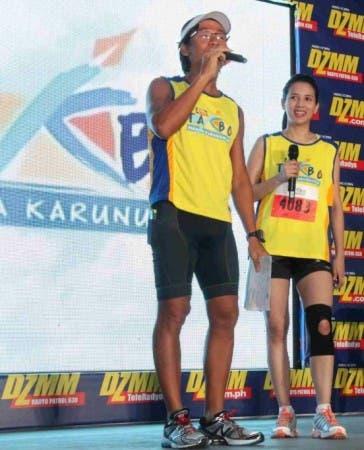 DZMM Takbo Para sa Karunungan Ambassadors Kim Atienza and Karylle