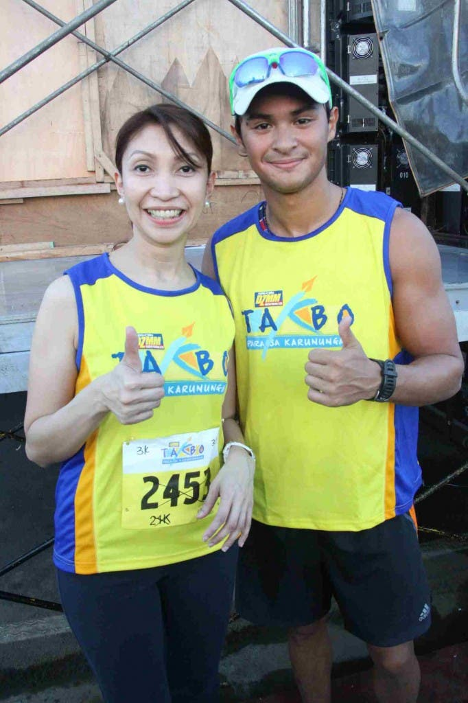DZMM station manager Marah Capuyan and Matteo Guidicelli