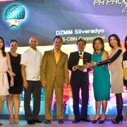 Manila Radio head Peter Musngi and DZMM station manager MArah Capuyan (6th from right) for DZMM Silveradyo