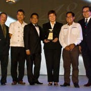 Sagip Kapamilya head Tina Monson Palma (3rd from right) for Sagip Kapamilya