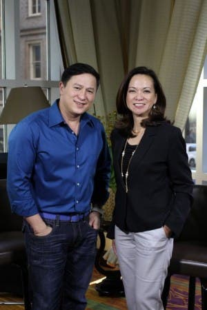 Pusong Pinoy Sa Amerika host Atty Lou Tancinco and its director Eric Quizon