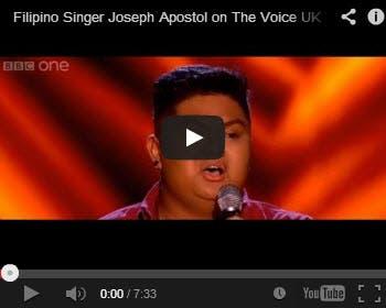 Joseph Apostol Blind Audtions