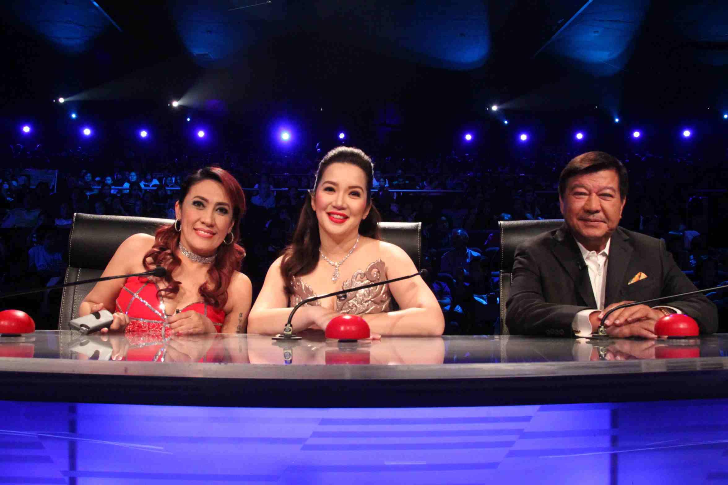 Big three judges Aiai Delas Alas, Kris Aquino, and Freddie Garcia