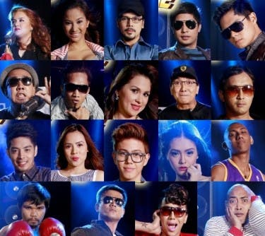 Kalokalikes Adele, Angel, Christopher, Coco, Dingdong, Jay, Jinkee, Jhong, Joey, John, Joross, Julia, Justin, Kim, Kobe, Manny, Robin, Vice, and Wally