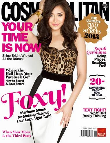 Sarah Geronimo Cosmo June cover
