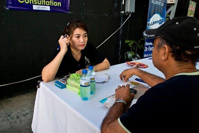 Atty. Claire Castro conducts free legal consultation