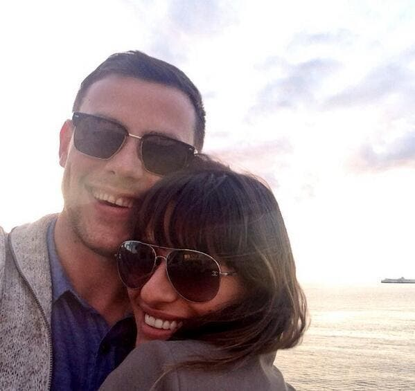 Lea Michelle and late boyfriend Cory Monteith