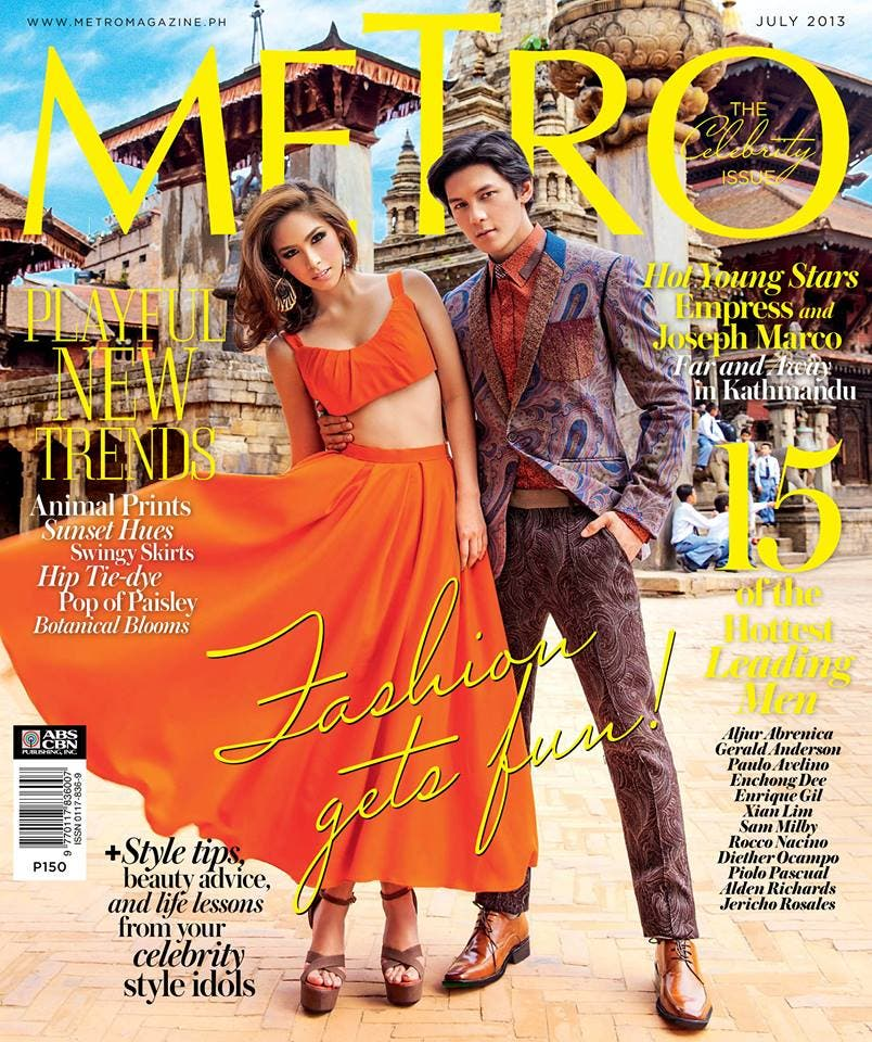 Empress and Joseph Marco – METRO July 2013 Cover | Starmometer