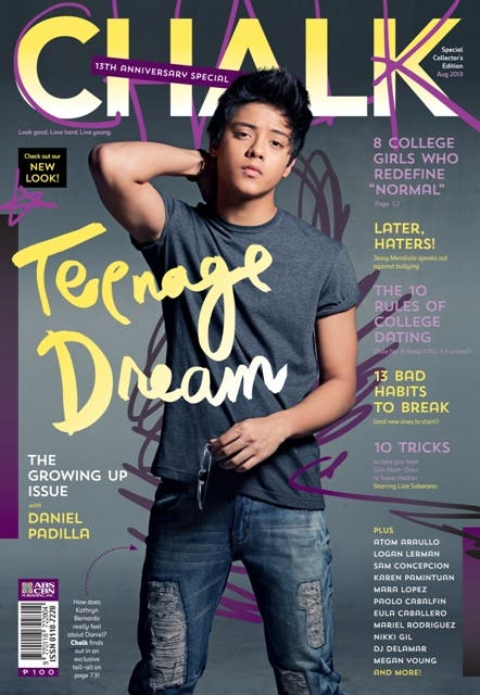 Daniel Padilla on the Cover of Chalk magazine this August 2013