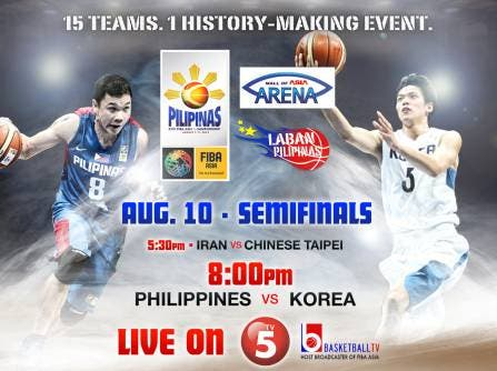 By beating the basketball team of Korea, Gilas Pilipinas earned a